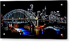 Sydney By Black Light Acrylic Print