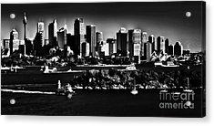 Sydney Harbour Monochrome Acrylic Print by Avalon Fine Art Photography