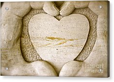 Symbol Of Love Acrylic Print by Ted Wheaton