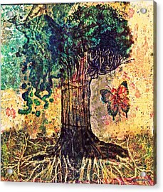 Symbolically Solid Tree Acrylic Print by Paulo Zerbato