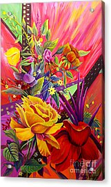 Acrylic Print featuring the painting Symphony by Nancy Cupp
