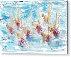 Sync Or Swim Acrylic Print by Russell Pierce
