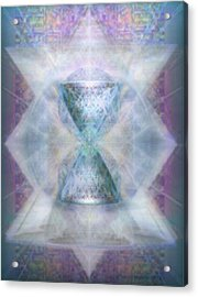 Synthesphered Chalice 'fifouray' On Tapestry Acrylic Print by Christopher Pringer