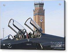 T-38 Talon Pilots Make Their Final Acrylic Print by Stocktrek Images