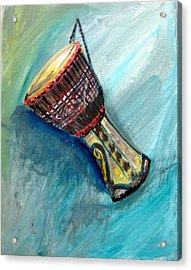 Acrylic Print featuring the painting Tabla 1 by Amanda Dinan