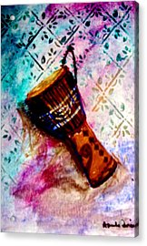 Acrylic Print featuring the painting Tabla 2 by Amanda Dinan