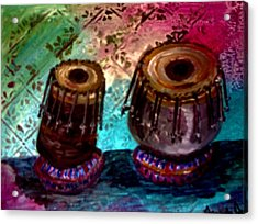 Acrylic Print featuring the painting Tabla 3 by Amanda Dinan
