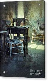 Table And Chairs Acrylic Print by Jill Battaglia