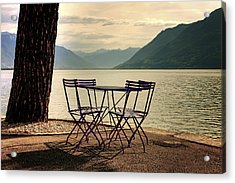 Table And Chairs Acrylic Print by Joana Kruse