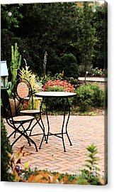 Table For Two Acrylic Print by Stephanie Frey
