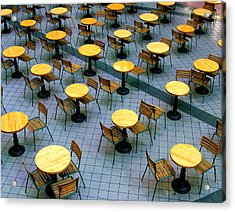 Tables And Chairs II Acrylic Print by Steven Ainsworth