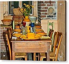 Tabletop Acrylic Print by Susan Leggett