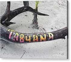 Tabyana Beach Acrylic Print by Vijay Sharon Govender