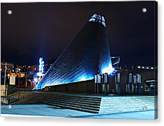 Tacoma Museum Of Glass At Night 1 Acrylic Print