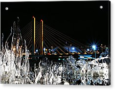 Tacoma Museum Of Glass Outdoor Sculpture Enhanced Acrylic Print