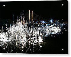 Tacoma Museum Of Glass Outdoor Sculpture Acrylic Print