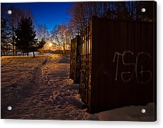 Acrylic Print featuring the photograph Tagged Containers by Matti Ollikainen