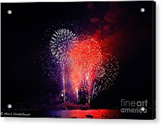 Acrylic Print featuring the photograph Tahoe Fireworks. by Mitch Shindelbower