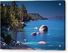 Tahoe On The Rocks Acrylic Print by Donni Mac