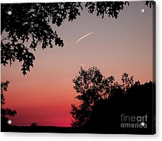 Acrylic Print featuring the photograph Tails Of Light At Sunset by Christian Mattison