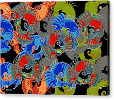 Acrylic Print featuring the digital art Tainted Shrimp by Alec Drake