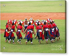 Taiwan Native Dance Performance Acrylic Print by Yali Shi