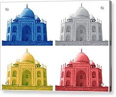 Taj Mahal Colorful Style Acrylic Print by Atthamee Ni