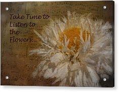 Take Time Acrylic Print by Cindy Wright