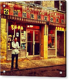 Taking A Break In Chinatown Acrylic Print