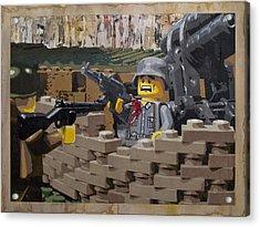 Taking The Bunker Acrylic Print by Josh Bernstein