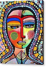 -talavera Virgin Of Guadalupe Enlightenment Acrylic Print by Sandra Silberzweig