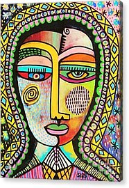 -talavera Virgin Of Guadalupe Miracles Acrylic Print by Sandra Silberzweig