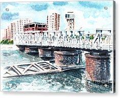 Talkha Bridge Acrylic Print by Muna Abdurrahman