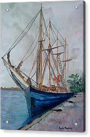 Tall Pirate Ship Acrylic Print