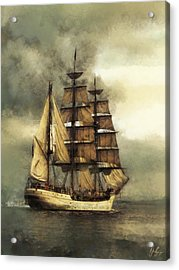 Tall Ship Acrylic Print by Marcin and Dawid Witukiewicz