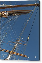Tall Ship Rigging 1 Acrylic Print by Winston  Wetteland