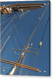 Tall Ship Rigging 2 Acrylic Print by Winston  Wetteland