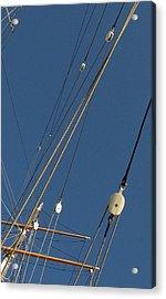 Tall Ship Rigging 3 Acrylic Print by Winston  Wetteland