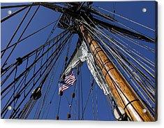 Tall Ship Rigging Acrylic Print by Garry Gay