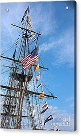 Tall Ships Banners Acrylic Print by David Bearden