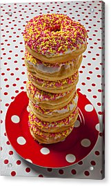 Tall Stack Of Donuts Acrylic Print by Garry Gay