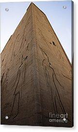 Tall Wall At Edfu Acrylic Print by Darcy Michaelchuk