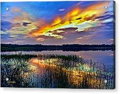 Talmadge Lake Florida Sunset Acrylic Print