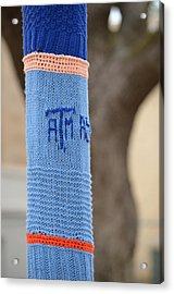 Tamu Astronomy Crocheted Lamppost Acrylic Print by Nikki Marie Smith