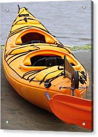 Tandem Yellow Kayak Acrylic Print