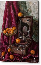 Tangerines Acrylic Print by Boris Filinov