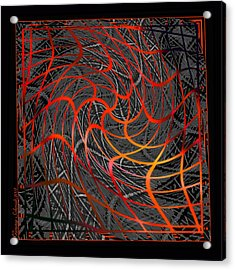 Tangled Web Of Lies Acrylic Print by Ginny Schmidt