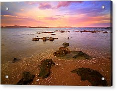 Acrylic Print featuring the photograph Tanilba Bay Sunset by Paul Svensen
