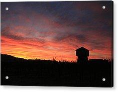 Tankhouse Sunrise In Healdsburg Acrylic Print