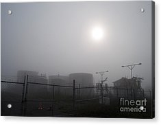 Tanks At Petrocor In The Fog Acrylic Print by Gary Chapple